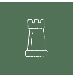 Chess icon drawn in chalk vector image
