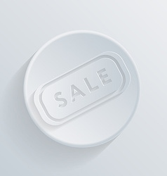 circle icon with a shadow plate sale vector image