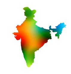 Colorful map of india vector