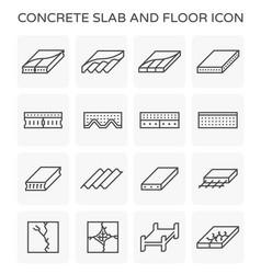 Concrete slab icon vector