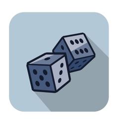 Dice cubes vector