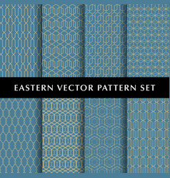 eastern hexagon pattern pack vector image vector image