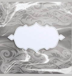 Frame on watercolor background vector