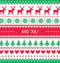 God Jul - Merry Christmas in Swedish Danish vector image vector image