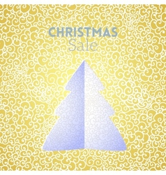 Gold Christmas Sale doodle seamless pattern with vector image vector image