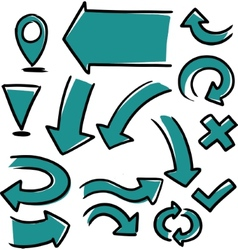 hand drawn arrows vector image vector image