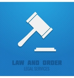 Judge gavel poster vector image