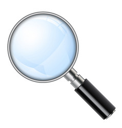 magnifying glass magnifier vector image