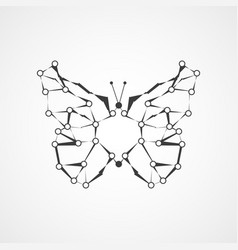 molecular structure in the form of butterfly vector image vector image