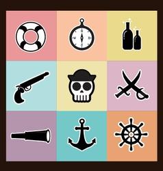 Pirates pastel vector