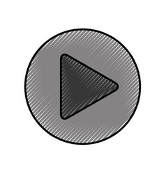 Play button isolated icon vector