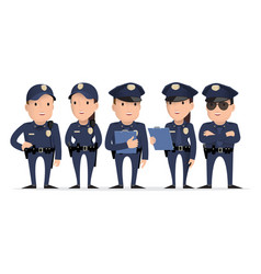 police character vector image