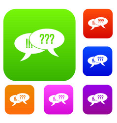 question and exclamation set collection vector image vector image
