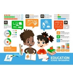 School Infographic set vector image vector image