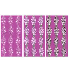 seamless pattern lavender flowers gladiolus vector image vector image
