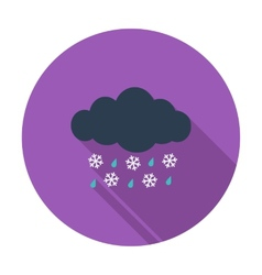 Sleet icon vector