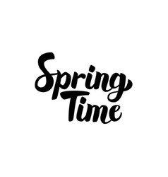 Spring time handwritten lettering vector