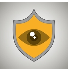 Symbol eye alert data vector