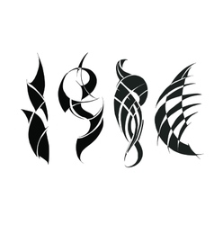 Tattoo for arms and shoulders vector image