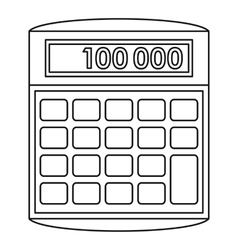 Calculator icon outline style vector