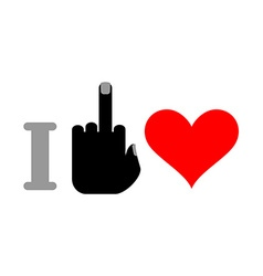 I hate love Fuck and heart Logo for unfortunate vector image