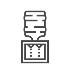 Water cooler line icon vector
