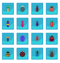 Insect bug icon blue app vector