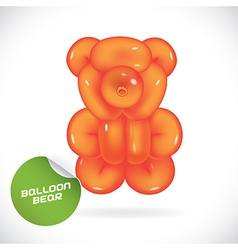 Glossy balloon bear vector