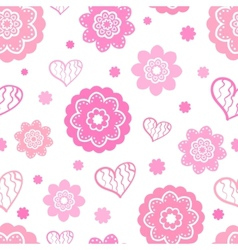 Romantic seamless pattern tiling vector image
