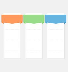 3 options infographics set template vector