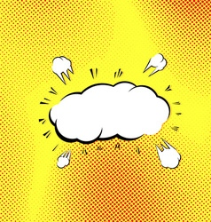 Retro style pop-art explosion steam cloud vector