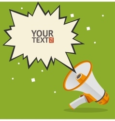 Megaphone text bubble card vector
