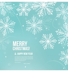 Abstract christmas card with snowflakes vector