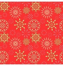 Snowflake seamless pattern Christmas winter vector image