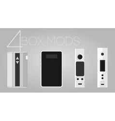4 box mods set vector image