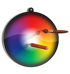 Color circle for painter vector