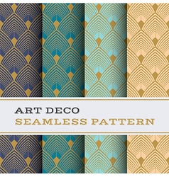 Art deco seamless pattern 03 vector