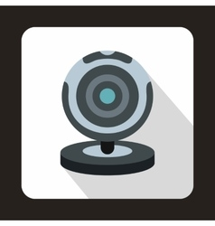 Webcam icon in flat style vector