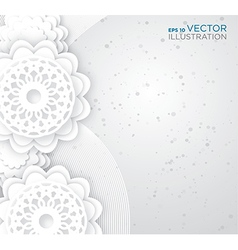 Abstract white flowers background vector image vector image