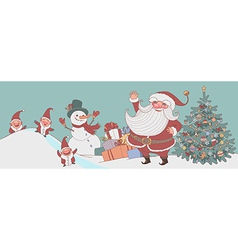 christmas time santa vector image