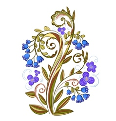 Decorative floral colored pattern with bluebells vector image vector image