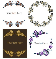 decorative floral frames set vector image vector image