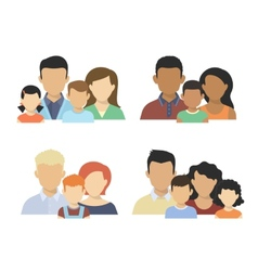 Flat couples vector image vector image