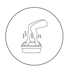 Foot bath icon in outline style isolated on white vector