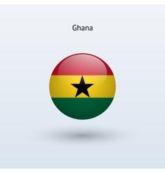 Ghana round flag vector