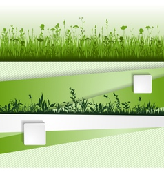 grass strip vector image vector image