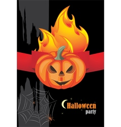 Halloween hot party vector image