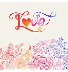 Love watercolor lettering watercolor letters love vector