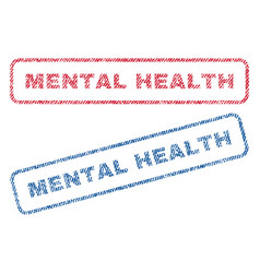 Mental health textile stamps vector