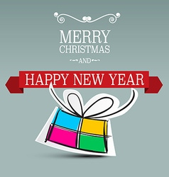 Merry christmas card xmas background new year vector